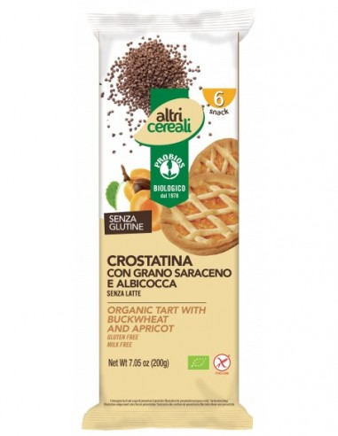 CROSTATINA GRANO SARACENO ALBICOCCA 6X33