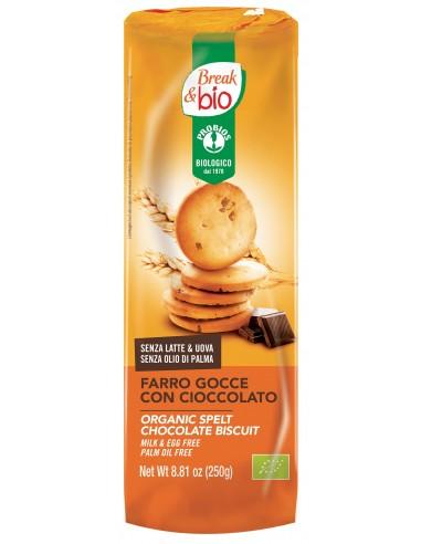 BISCOTTI FARRO GOCCE C/CIOCC. FOND. 250G
