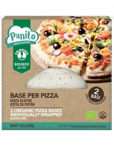BASE PER PIZZA SENZA GLUTINE 2X165G