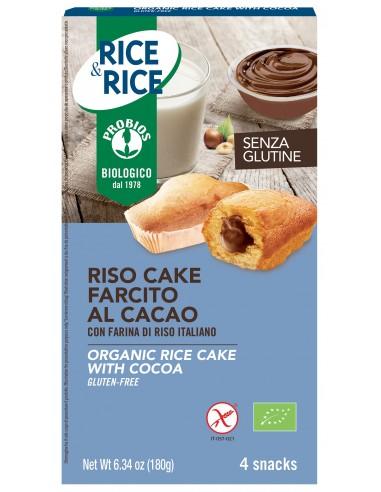 RISO CAKE AL CACAO S/GLUTINE 4X45G